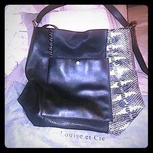 Louise et Cie Italian leather tote bag EUC